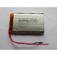 3.7V 2500mAH (Lithium Polymer) Lipo Rechargeable Battery Model KP-523865