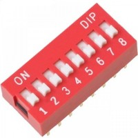 8 Way DIP Slide Switch 2.54mm Pitch