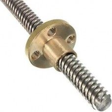 Trapezoidal Lead Screws Pitch 8mm Lenth 300mm + Copper Nut