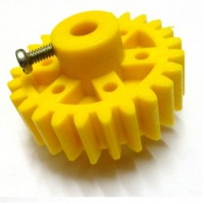 Yellow Plastic Spur Gear 6mm Circular Shaft  26T