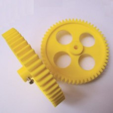 Yellow 56 Teeth High Quality Plastic Spur Gear