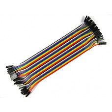10CM Female to Female Breadboard Jumper Dupont 2.54MM 1P-1P Cable 40 Pcs