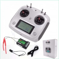 FS-i6S Remote Control 2.4G 10CH AFHDS with FS-IA10B Receiver and Mobile Holder