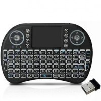 i8 Mini Wireless Keyboard and Mouse Touchpad with Backlight or Smart Tv Android Tv Box Raspberry Pi Android iOS Devices Black