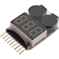 Lipo & Li-ion 1-8S Voltage checker and low voltage Alarm