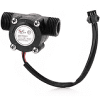YF-S201 Water Flow Measurement Sensor with 1-30Liter/min Flow Rate – Black