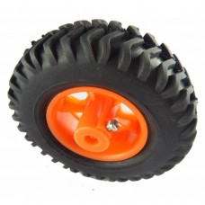 Pure rubber robot wheel Best for Robo Fighting – 6mm shaft